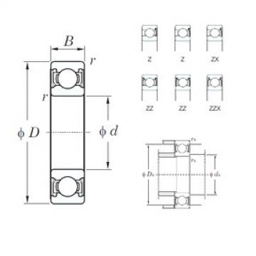 55 mm x 80 mm x 13 mm  KOYO 6911ZZ deep groove ball bearings