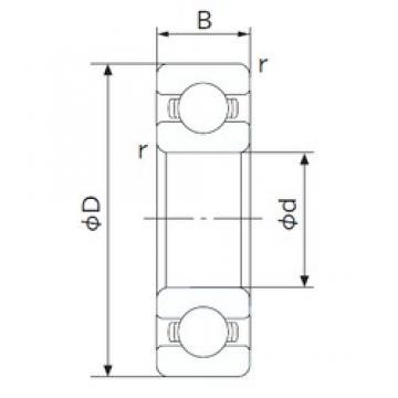 180 mm x 250 mm x 33 mm  NACHI 6936 deep groove ball bearings