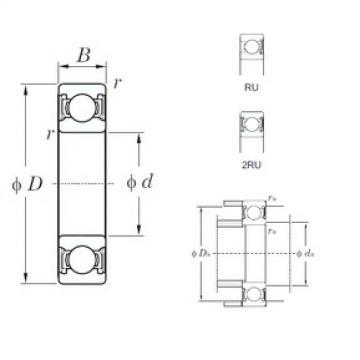 50 mm x 72 mm x 12 mm  KOYO 6910-2RU deep groove ball bearings