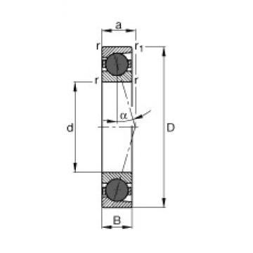 60 mm x 85 mm x 13 mm  FAG HCB71912-C-T-P4S angular contact ball bearings