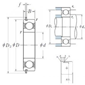 30 mm x 42 mm x 7 mm  NSK 6806NR deep groove ball bearings