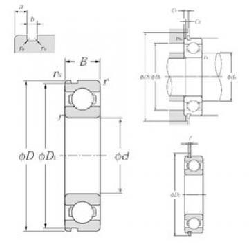 30 mm x 42 mm x 7 mm  NTN 6806NR deep groove ball bearings