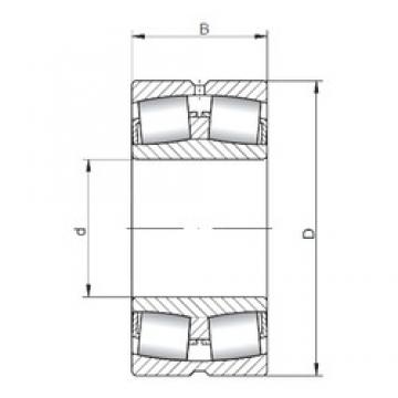 240 mm x 360 mm x 92 mm  Loyal 23048 CW33 spherical roller bearings