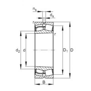 240 mm x 360 mm x 92 mm  FAG 23048-E1-K spherical roller bearings