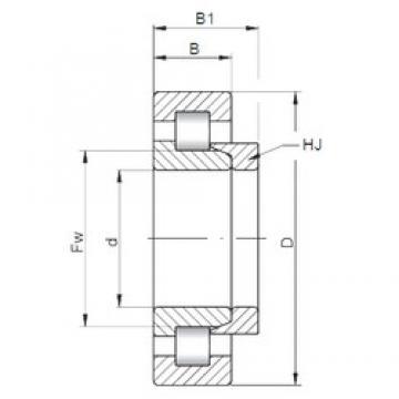 300 mm x 540 mm x 85 mm  Loyal NH260 cylindrical roller bearings