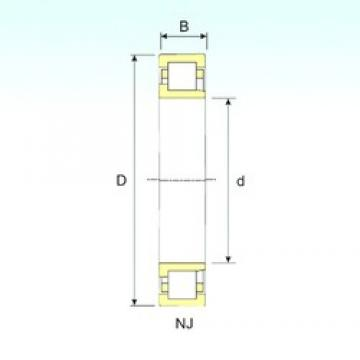 220 mm x 400 mm x 65 mm  ISB NJ 244 cylindrical roller bearings