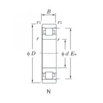 220 mm x 400 mm x 65 mm  KOYO N244 cylindrical roller bearings