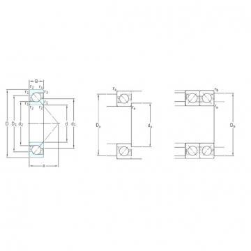 220 mm x 400 mm x 65 mm  SKF 7244BCBM angular contact ball bearings