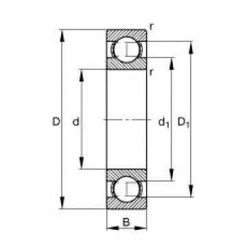 30 mm x 42 mm x 7 mm  FAG 61806 deep groove ball bearings