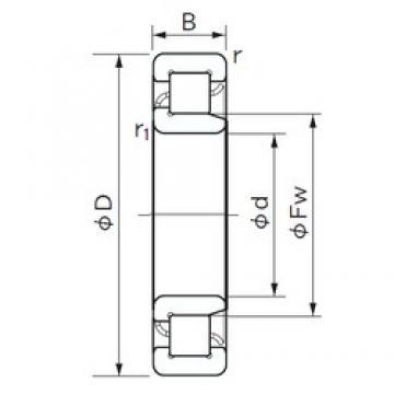 180 mm x 280 mm x 46 mm  NACHI NJ 1036 cylindrical roller bearings
