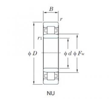 65 mm x 120 mm x 38.1 mm  KOYO NU3213 cylindrical roller bearings