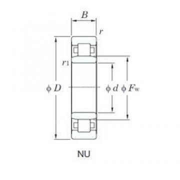 300 mm x 540 mm x 85 mm  KOYO NU260 cylindrical roller bearings