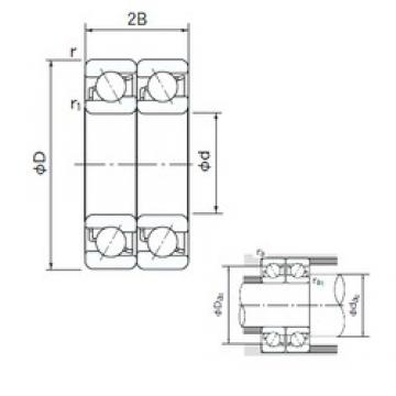 180 mm x 280 mm x 46 mm  NACHI 7036DT angular contact ball bearings