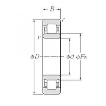 300 mm x 540 mm x 85 mm  NTN NU260 cylindrical roller bearings