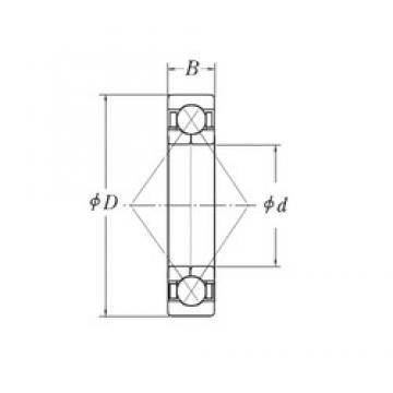 180 mm x 280 mm x 46 mm  CYSD QJ1036 angular contact ball bearings