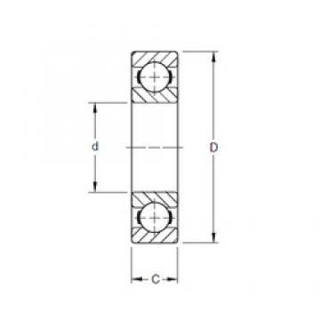 220 mm x 400 mm x 65 mm  Timken 244K deep groove ball bearings