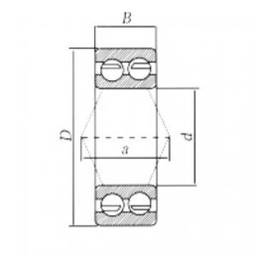 65 mm x 120 mm x 38,1 mm  Loyal 3213ZZ angular contact ball bearings