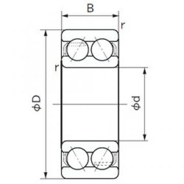 65 mm x 120 mm x 38.1 mm  NACHI 5213A angular contact ball bearings