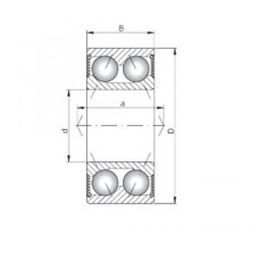 65 mm x 120 mm x 38,1 mm  Loyal 3213-2RS angular contact ball bearings