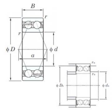 65 mm x 120 mm x 38.1 mm  KOYO 5213 angular contact ball bearings
