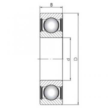 30 mm x 42 mm x 7 mm  Loyal 61806-2RS deep groove ball bearings