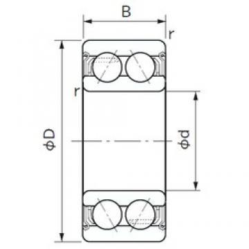 65 mm x 120 mm x 38.1 mm  NACHI 5213ZZ angular contact ball bearings