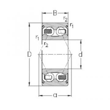 65 mm x 120 mm x 38,1 mm  NKE 3213-B-2Z-TV angular contact ball bearings