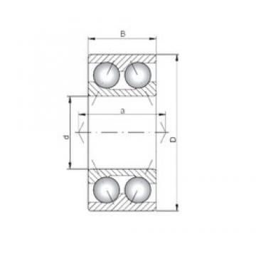 65 mm x 120 mm x 38,1 mm  Loyal 3213 angular contact ball bearings