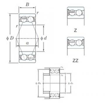 65 mm x 120 mm x 38.1 mm  KOYO 5213ZZ angular contact ball bearings