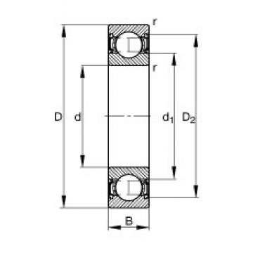 5 mm x 19 mm x 6 mm  FAG 635-2RSR deep groove ball bearings