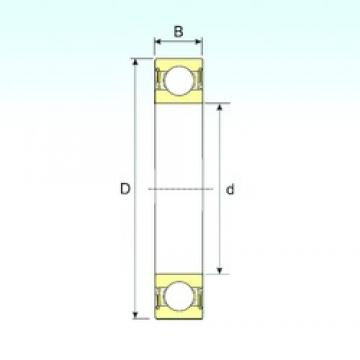 50 mm x 72 mm x 12 mm  ISB 61910-2RS deep groove ball bearings