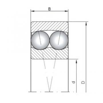 5 mm x 19 mm x 6 mm  ISO 135 self aligning ball bearings