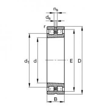 240 mm x 360 mm x 92 mm  FAG NN3048-AS-K-M-SP cylindrical roller bearings