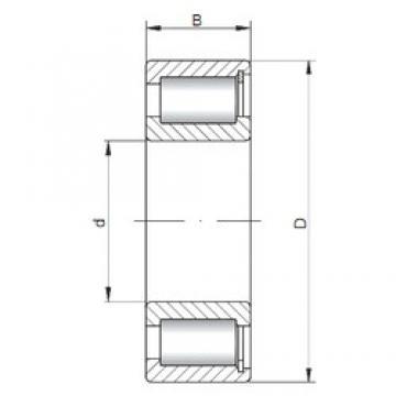 240 mm x 360 mm x 92 mm  Loyal NCF3048 V cylindrical roller bearings