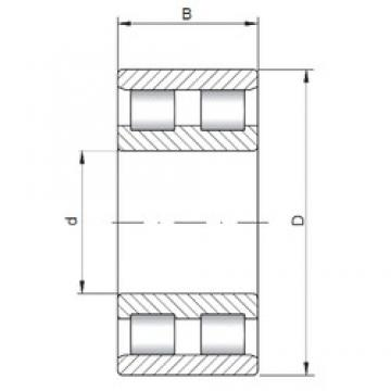 240 mm x 360 mm x 92 mm  ISO NN3048 cylindrical roller bearings