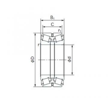 NACHI 240KBE030 tapered roller bearings