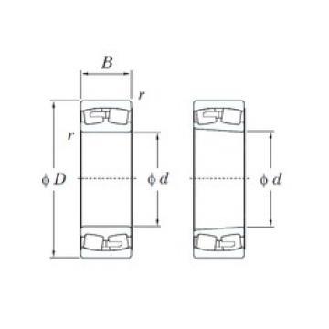 240 mm x 360 mm x 92 mm  KOYO 23048RK spherical roller bearings