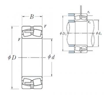 240 mm x 360 mm x 92 mm  NSK 23048CAE4 spherical roller bearings