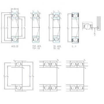 50 mm x 72 mm x 12 mm  SKF S71910 ACB/P4A angular contact ball bearings