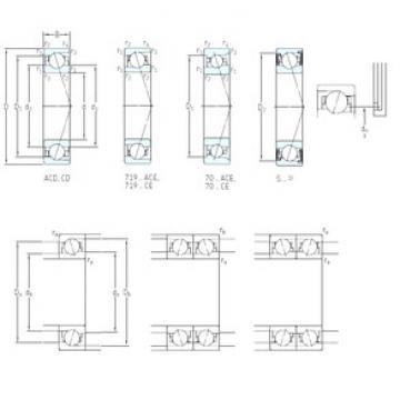 50 mm x 72 mm x 12 mm  SKF S71910 ACD/P4A angular contact ball bearings
