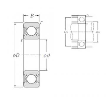 30 mm x 42 mm x 7 mm  NTN 6806LLU deep groove ball bearings