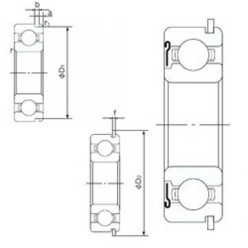 55 mm x 80 mm x 13 mm  NACHI 6911ZNR deep groove ball bearings