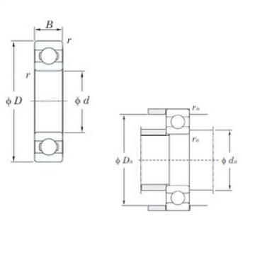 55 mm x 80 mm x 13 mm  KOYO 6911 deep groove ball bearings