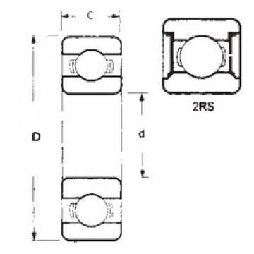 60 mm x 85 mm x 13 mm  FBJ 6912-2RS deep groove ball bearings
