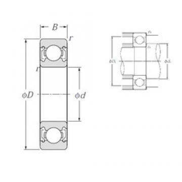 30 mm x 42 mm x 7 mm  NTN 6806ZZ deep groove ball bearings