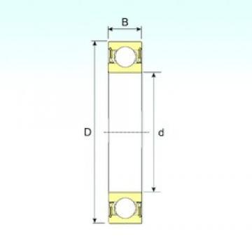 60 mm x 85 mm x 13 mm  ISB 61912-2RZ deep groove ball bearings