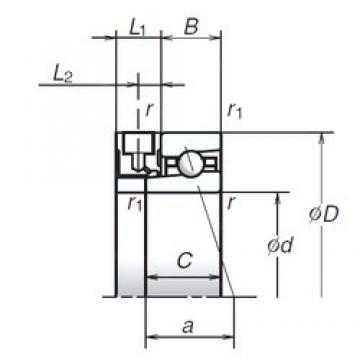 60 mm x 85 mm x 13 mm  NSK 60BER19XE angular contact ball bearings