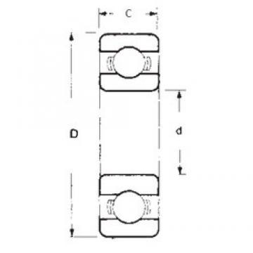 50 mm x 72 mm x 12 mm  FBJ 6910 deep groove ball bearings