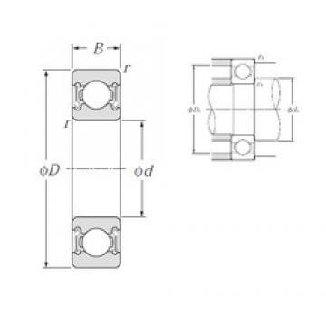 30 mm x 42 mm x 7 mm  NTN 6806LLB deep groove ball bearings