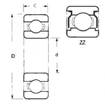 50 mm x 72 mm x 12 mm  FBJ 6910ZZ deep groove ball bearings